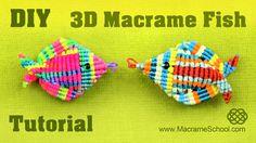 3D Macramé Fish Tutorial - Pesce, Pescado, Poisson, Peixe, Fisch