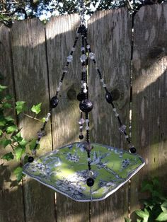 china bird feeder with beaded hanger