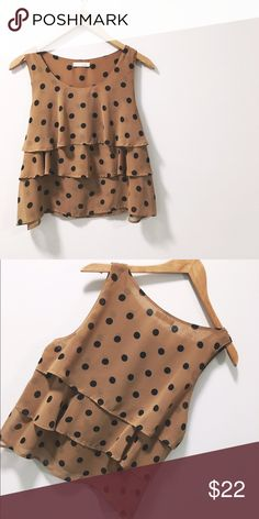 🆕 🙊Lush Polka Dot Top 🙊 Cute ruffle Polka dot top! NWOT Purchased at Nordstrom and never wore it lol! Its been in the closet. It has been washed :) Happy Poshing!💁🏾  📫 Same/Next Day Shipping 🏡 Odor Free 🐩 Pet Free 🚫 PayPal/Trades Lush Tops