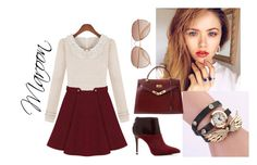 """""""MAROON"""" by lovettaa on Polyvore featuring MICHAEL Michael Kors, Hermès and H&M"""