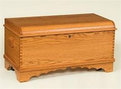 Amish Small Waterfall Hope Chest - Optional Dovetail Joints