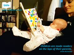 Read together every day. Talk about what you read. Relax and have fun! Quotes For Book Lovers, Infant Activities, Things That Bounce, Literacy, Have Fun, Relax, Reading, Children, Books