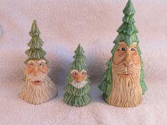 Santa Trees 2012 wood carving