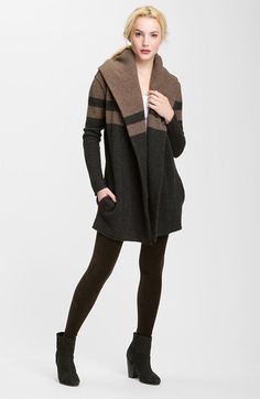 Free shipping and returns on Vince Colorblock Blanket Sweater at Nordstrom.com. A chic, color-blocked design defines a substantial wool-blend sweater softened with a hint of cashmere and shaped with a dramatic shawl collar that sweeps back into a slouchy hood.