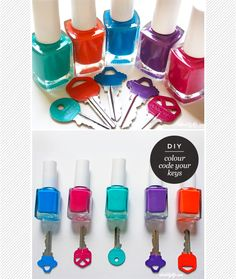 This makes finding your keys easy! Color code them in 5 minutes #DIY #organize
