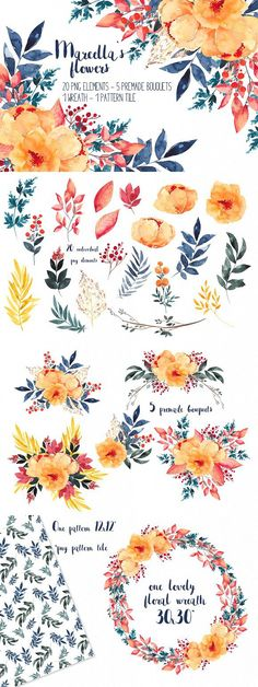 Marcella's flowers. Watercolor Flowers