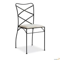 Mara wrought iron chair - ARREDACLICK Needs sharper corners though, but very nice also doesn't fold.