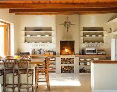 Resultado de imagen de built in braai ideas House Extension Design, House Design, Small Living Rooms, Living Spaces, Small Cabin Kitchens, Built In Braai, African House, House Inside, Ceiling Decor