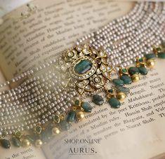 Indian Jewelry Earrings, Jewelry Design Earrings, Ruby Jewelry, Beaded Jewelry, Jewellery Designs, Pendant Jewelry, Mughal Jewelry, Jewelery, India Jewelry