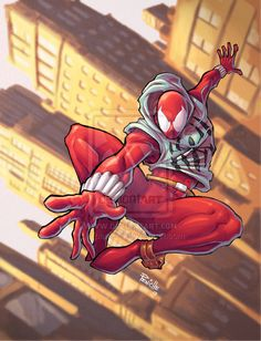 Scarlet Spider color by Fpeniche.deviantart.com on @deviantART