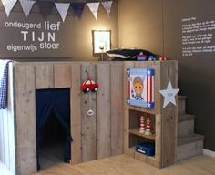 Neat play fort plus loft!