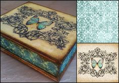 Galeria - Inspiracji - Magdy: Inspiracje Decoupage, Casket, Decorative Boxes, Printables, Crafts, Handmade, Diy, Vintage, Home Decor