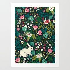 Buy Forest Friends Art Print by Anna Deegan. Worldwide shipping available at Society6.com. Just one of millions of high quality products available.
