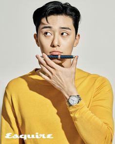 Park Seo-joon in Esquire Korea modeling Montblanc automatic watches Joon Park, Park Hyung, Seo Kang Joon, Asian Actors, Korean Actors, Song Joong, Sung Kyung, Kdrama Actors, Lee Jong Suk
