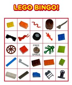 lego bingo cards | Lego bingo | Party Ideas | Pinterest