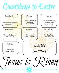 Countdown to Easter Free Printable