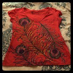 "Spotted while shopping on Poshmark: ""Peacock print tshirt""! #poshmark #fashion #shopping #style #Nollie #Tops"