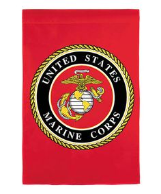 Take a look at this Red US Marines Emblem Garden Flag by Evergreen on #zulily today!