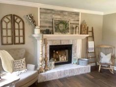 4 Fascinating Tips AND Tricks: Living Room Remodel Before And After French Doors living room remodel before and after stairs.Farmhouse Living Room Remodel Farm House living room remodel on a budget fractions.Living Room Remodel With Fireplace Products. Above Fireplace Decor, Farmhouse Fireplace Mantels, Living Room Decor Fireplace, Fireplace Design, Simple Fireplace, Country Fireplace, Craftsman Fireplace, Cottage Fireplace, Fireplace Cover