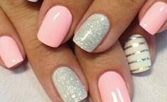 70 Cute Summer Nails Designs Colors And Art Ideas Hello, ladies. If you're in need of some summer nail inspiration, we've got you covered! Here are the hottest nail designs you need to try this season. Cute Summer Nail Designs, Cute Summer Nails, White Nail Designs, Spring Nails, Nail Art Designs, Nails Design, Pedicure Designs, Stripe Nail Designs, Coral Nails With Design