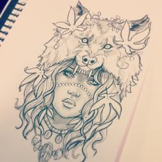 lupus tattoo wolf woman - Google Search