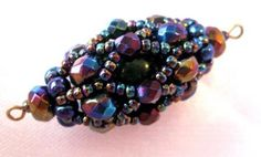 Beaded bead tute with very detailed pictures.  Russian instructions are w/i pic and NOT translatable but it is easy to follow. #seed #bead #tutorial