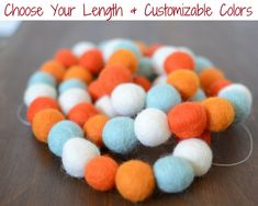 C Pom Pom Garland Wall Hanging for Kids Room Nursery Birthday Party Halloween Decoration from Lesirit Multicolor Handmade Wool Felt Ball Garland