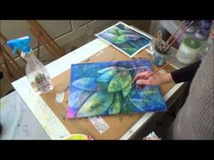 Abstract flowers on canvas - abstrakte Blüten auf Leinwand - YouTube