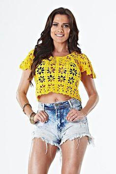 Receitas Círculo - Blusa Glamour Amarela