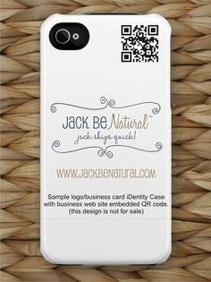 """A business card """"iDentity Case"""" for your iPhone with embedded QR Code!"""