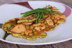 Kuracie soté v karfiólovej placke (bezlepková) - Powered by Gluten Free Diet, Russian Recipes, Kung Pao Chicken, Poultry, Meat, Cooking, Ethnic Recipes, Polish, Fitness