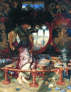 William Holman Hunt, The Lady of Shallot, 1905