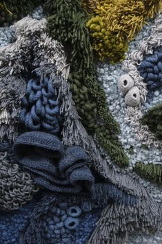 Textile Artist Handcrafts Giant Tapestry of the World Map Kew Gardens, Upcycled Textiles, Tapestry Nature, World Map Art, Textile Artists, Textile World, Shades Of Green, Burlap Wreath, Fiber Art