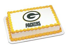 NFL Green Bay Packers Football Team Logo - Edible Image Cake / Cupcake Topper Personalized Licensed Icing / Frosting Sheet
