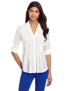 e6e4126384de7 Amazon.com  Tommy Girl Juniors Fitted Shirt With Pintucks  Clothing Pin  Tucks