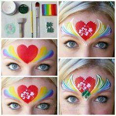 Easy one stroke rainbow princess crown by Cameron Garrett
