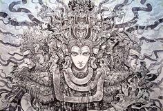 Prints and original paintings by visionary storyteller and mythology artist Abhishek Singh from India. Store has prints from Krishna and originals of Shiva. Shiva Art, Hindu Art, Shiva Shakti, Krishna Art, Wicca, Indiana, Black And White Painting, Hindu Deities, Indian Artist