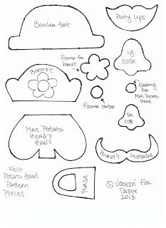 Free mr potato head patterns and templates google search for Mr potato head felt template
