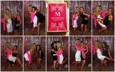 bachelorette party hotel photo booth/wall // www.sugarcoatedsisters.com