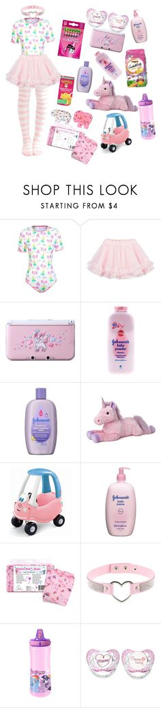 """""""Little princess sleepover kit 💤 👸💕🎀"""" by knightoflimes ❤ liked on Polyvore featuring LILI GAUFRETTE, Nintendo, Johnson's Baby, Mother and My Little Pony"""