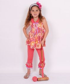 Love this Cayenne Floral Yoke Top & Pants - Infant, Toddler & Girls by Jelly the Pug on #zulily today!