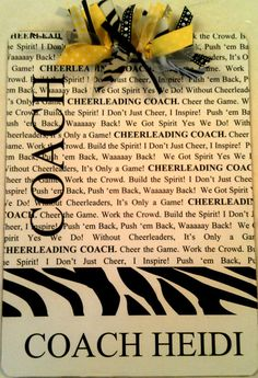 Cheer Coach Clipboard - You Choose Colors. $21.00, via Etsy.