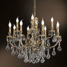 Klasyczna lampa wisząca z serii 888 - producent Possoni. #Possoni #888 #wiszące_lampy #design #wnętrze #interior #oświetlenie #klasyczne_lampy #Swarovski #kryształy #mosiądz #piękne_lampy #lampy_kraków #abanet_kraków #lampy_abanet