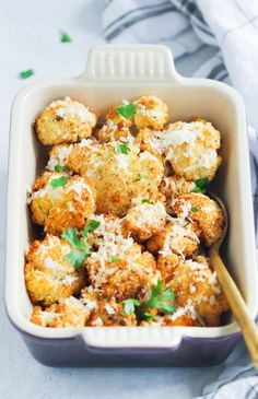 This easy Garlic Parmesan Roasted Cauliflower is a perfect low-carb side dish for any occasion. It's well seasoned with garlic, pepper, paprika & Parmesan.
