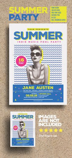 Summer party  #event #PSD #guest dj • Click here to download ! http://graphicriver.net/item/summer-party/15833242?ref=pxcr