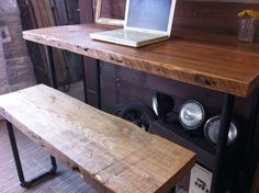 Industrial Salvaged Wood Desk