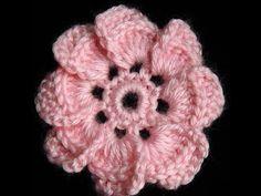 Crochet : Flor de 8 petalos - YouTube