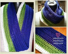 Seattle Seahawks Inspired Infinity Scarf by peacelovecreations, $27.00