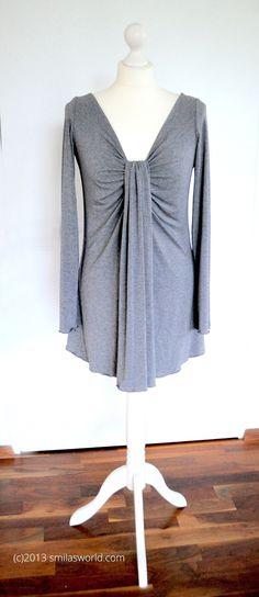 smila´s blog   Tutorial   Drapee Shirt Burda Style 2/2013 #113