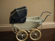 Rare Vintage Miniature French Doll Pram Carriage Made In France By RED...Ebay